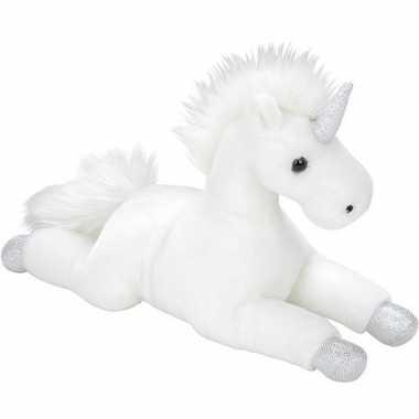 Eenhoorns speelgoed artikelen eenhoorn knuffelbeest wit 35 cm