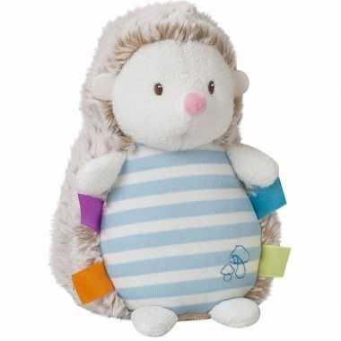 Egels speelgoed artikelen egel knuffelbeest blauw 16 cm glow in the d