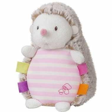 Egels speelgoed artikelen egel knuffelbeest roze 16 cm glow in the da