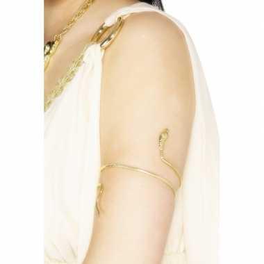 Egyptische slangen armband goud
