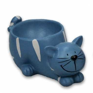 Eierdopje kat/poes blauw