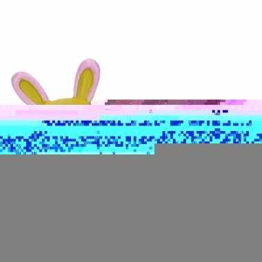 Eierdopje liggende konijn/haas groen/paars
