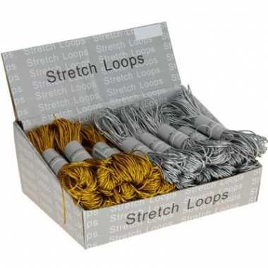 Elastische touwen in de kleur zilver