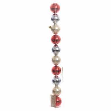 Elegant christmas kerstboom decoratie glimmende kerstballen mix rood/