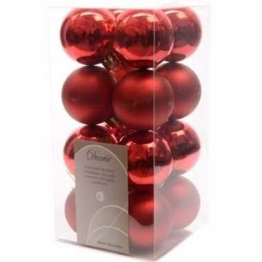 Elegant christmas kerstboom decoratie kerstballetjes rood 16 x