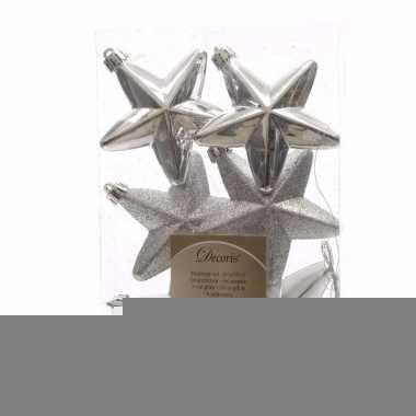 Elegant christmas zilveren kerstversiering sterren