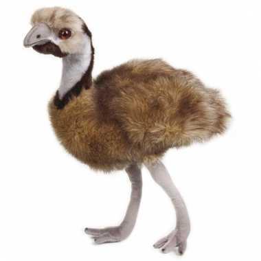 Emoe knuffeltje 44 cm met kraalogen