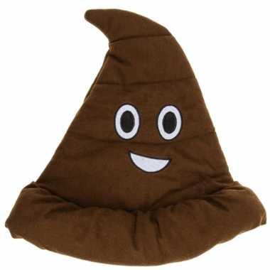 Emoji drollen hoed bruin