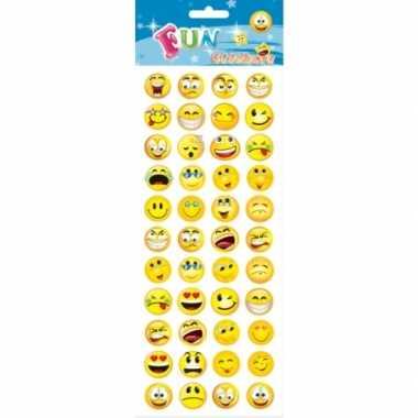 Emoji stickervellen kids 132 stuks