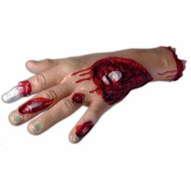 Enge halloween decoratie bloederige hand