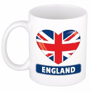 Engelse vlag hartje theebeker 300 ml