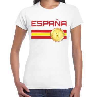 Espana / spanje landen t-shirt wit dames