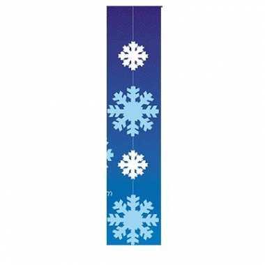 Etalage hangdecoratie witte sneeuwvlokken
