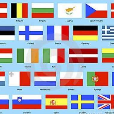 Europese landen vlaggen pakket
