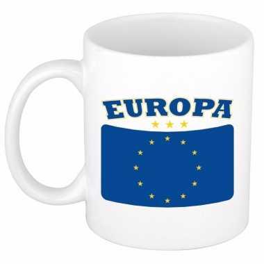 Europese vlag theebeker 300 ml trend
