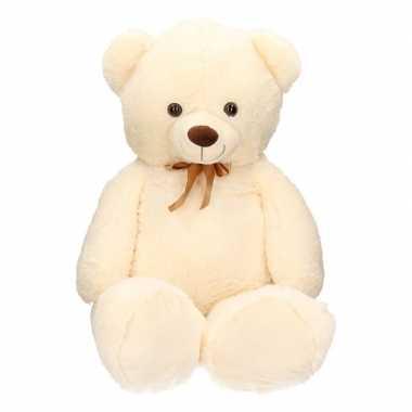 Extra grote knuffelbeer beige 10 cm