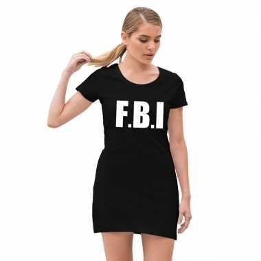 Fbi politie verkleed jurkje zwart voor dames