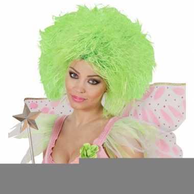 Fee dames pruik neon groen