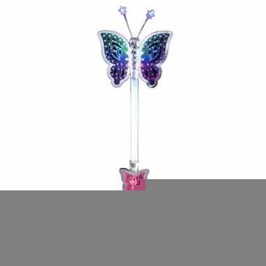 Feeen toverstaf zilver lichtgevende vlinder