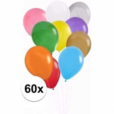 Feest ballonnen gekleurd 60x
