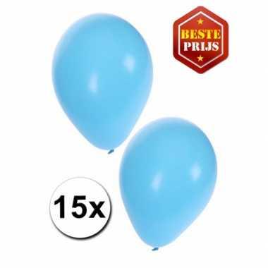 Feest ballonnen licht blauw 15