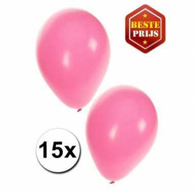 Feest ballonnen licht roze 15