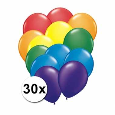 Feest ballonnen regenboog 30 x