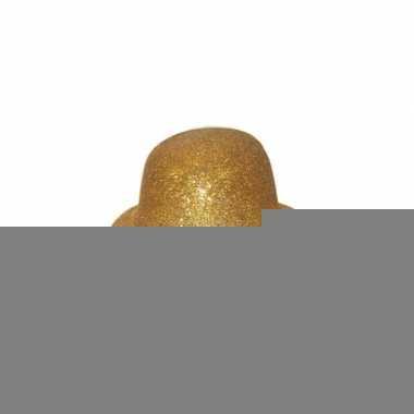 Feest bolhoed met gouden glitters