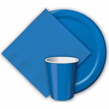 Feest borden blauw 23 cm