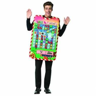 Feest candy crush verkleedoutfit voor volwassenen