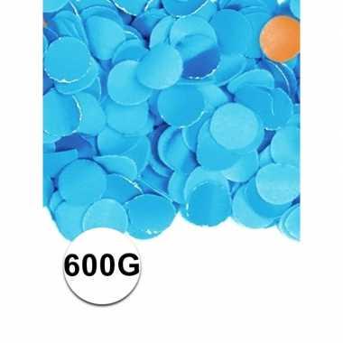 Feest confetti 600 gram blauw