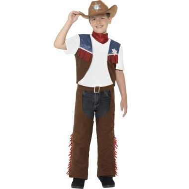 Feest cowboy verkleedoutfit voor jongens trend