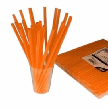 Feest drinkrietjes oranje 135 stuks