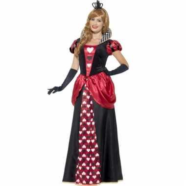 Feest hartenkoningin verkleedoutfit voor dames