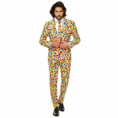 Feest kostuum confetti voor heren