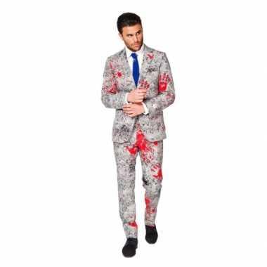 Feest kostuum zombie bloedhanden print
