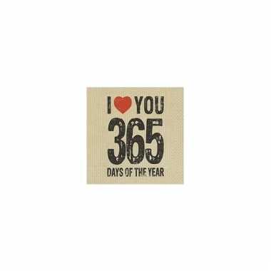 Feest servetten valentijn thema 365 days