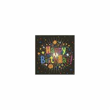 Feest servetten verjaardag 20 stuks