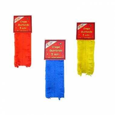 Feest slingers blauw-geel-rood