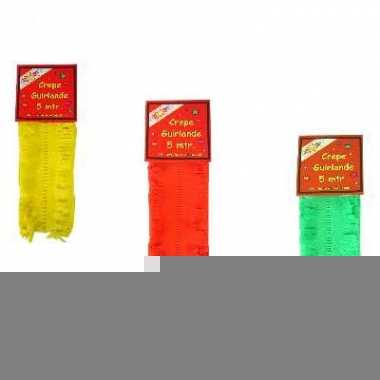 Feest slingers geel-rood-groen