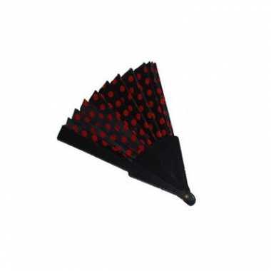 Feestartikel spaanse waaier zwart/rood