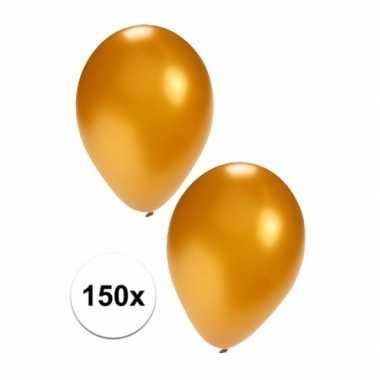 Feestartikelen 150x gouden ballonnen