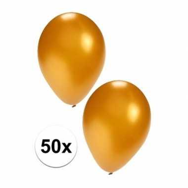 Feestartikelen 50x gouden ballonnen