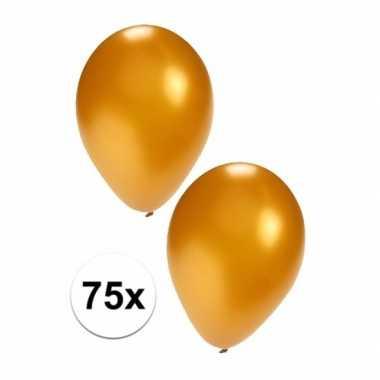 Feestartikelen 75x gouden ballonnen