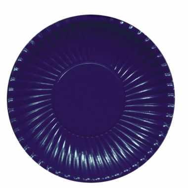 Feestartikelen borden donkerblauw 10 stuks