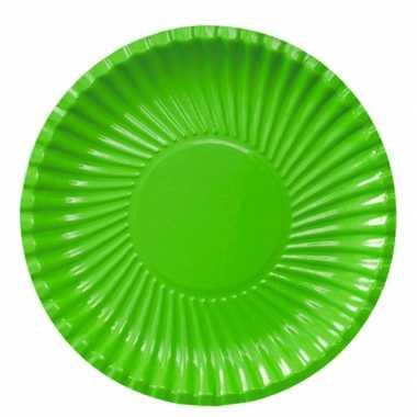 Feestartikelen borden groen 10 stuks