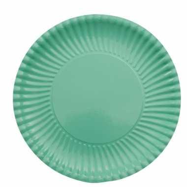 Feestartikelen borden mint groen 10 stuks