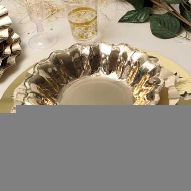 Feestartikelen diepe borden goud 27 cm