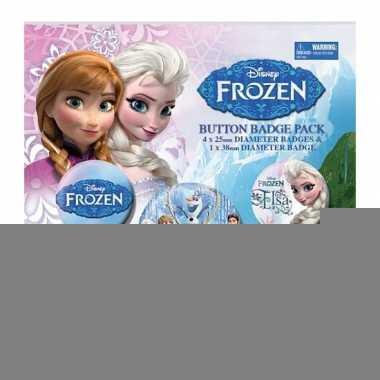 Feestartikelen frozen buttons 5 stuks
