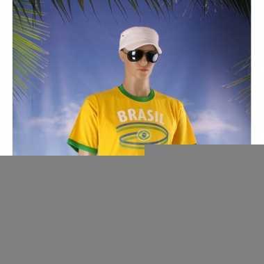 Feestartikelen geel brasil shirt